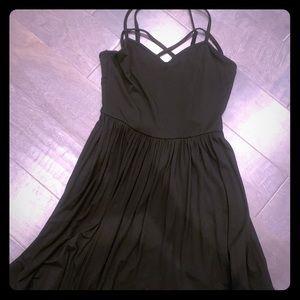 Women's black mini dress